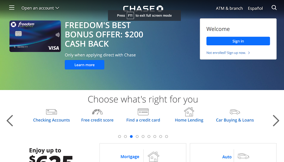 chase bank contact phone number
