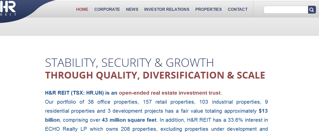 H&R REIT  Number