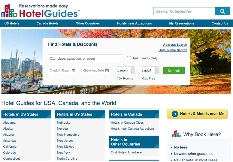 hotelguides.com Website