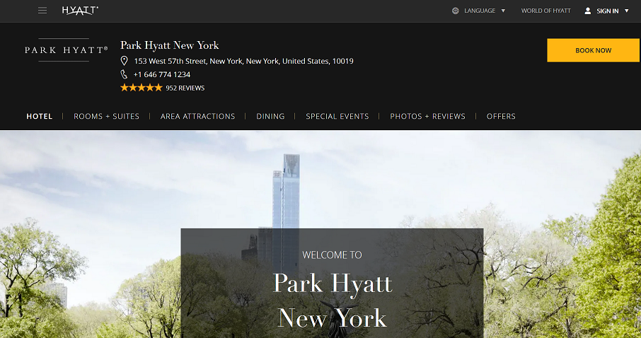 Park Hyatt Hotel New York