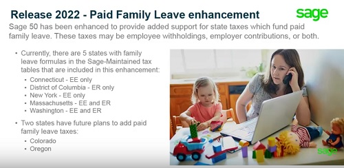 Paid Family Leave Sage 50 Release 2022