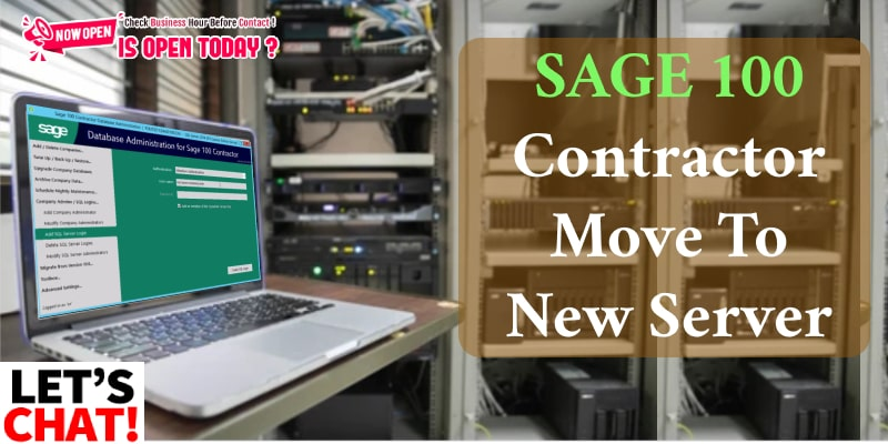 Sage 100 Contractor Move To New Server